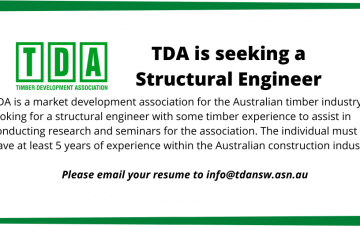 Timber Development Association are seeking a structural engineer