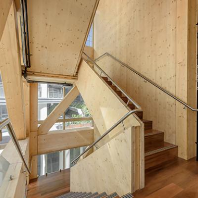 Interior timber stair