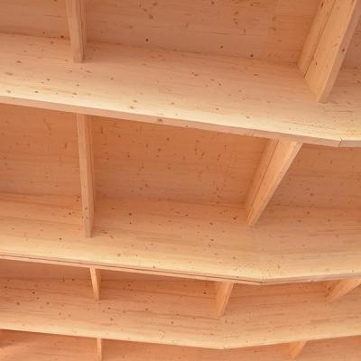 Glulam roof structure